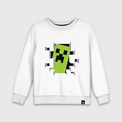 Детский свитшот Crash Minecraft