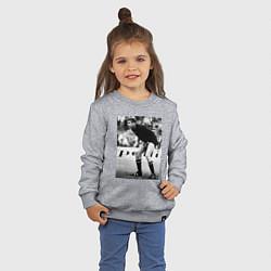 Свитшот хлопковый детский Лев Яшин цвета меланж — фото 2
