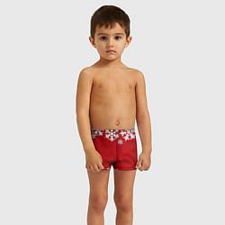 Плавки для мальчика Снежинки цвета 3D — фото 2