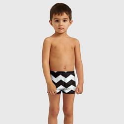 Плавки для мальчика Полосы цвета 3D — фото 2