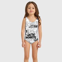 Купальник для девочки Arctic Monkeys цвета 3D — фото 2