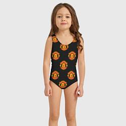 Купальник для девочки Manchester United Pattern цвета 3D — фото 2