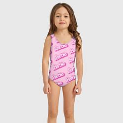 Купальник для девочки Barbie Pattern цвета 3D — фото 2