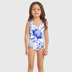Купальник для девочки Гжель 2 цвета 3D — фото 2