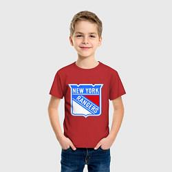 Футболка хлопковая детская New York Rangers цвета красный — фото 2