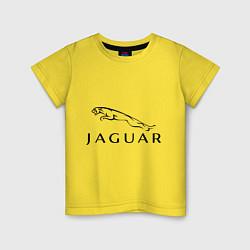 Футболка хлопковая детская Jaguar цвета желтый — фото 1