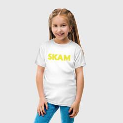 Футболка хлопковая детская Skam цвета белый — фото 2