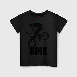 Футболка хлопковая детская BMX 3 цвета черный — фото 1