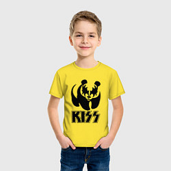 Футболка хлопковая детская KISS Panda цвета желтый — фото 2