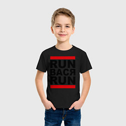 Футболка хлопковая детская Run Вася Run цвета черный — фото 2
