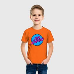 Футболка хлопковая детская San Junipero цвета оранжевый — фото 2