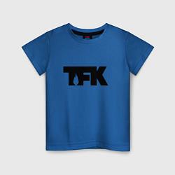 Футболка хлопковая детская TFK: Black Logo цвета синий — фото 1