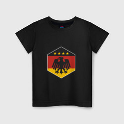 Футболка хлопковая детская Немецкий фанат цвета черный — фото 1