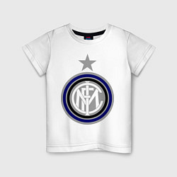 Футболка хлопковая детская Inter FC цвета белый — фото 1