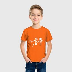 Футболка хлопковая детская Daft Punk цвета оранжевый — фото 2