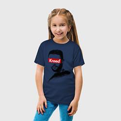 Футболка хлопковая детская Kreed Supreme цвета тёмно-синий — фото 2