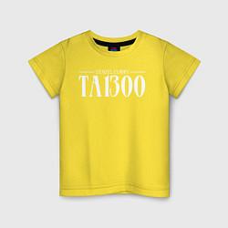 Футболка хлопковая детская Taboo: Denzel Curry цвета желтый — фото 1