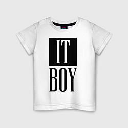 Футболка хлопковая детская It Boy цвета белый — фото 1