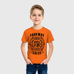Футболка хлопковая детская Parkway Drive: Australia цвета оранжевый — фото 2