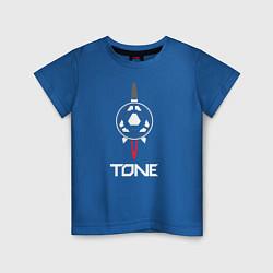 Футболка хлопковая детская TONE цвета синий — фото 1