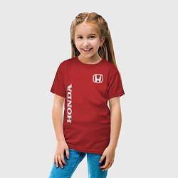 Футболка хлопковая детская HONDA цвета красный — фото 2