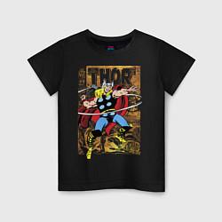 Футболка хлопковая детская Thor цвета черный — фото 1