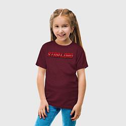 Футболка хлопковая детская Star-lord цвета меланж-бордовый — фото 2