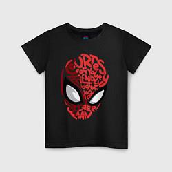 Футболка хлопковая детская Spider-Man цвета черный — фото 1