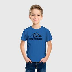 Футболка хлопковая детская Горы по колено цвета синий — фото 2