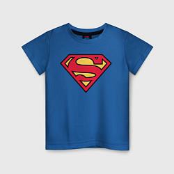 Футболка хлопковая детская Superman logo цвета синий — фото 1