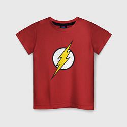 Футболка хлопковая детская Flash цвета красный — фото 1