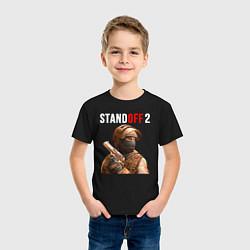 Футболка хлопковая детская STANDOFF 2 цвета черный — фото 2