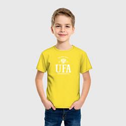 Футболка хлопковая детская Уфа Born in Russia цвета желтый — фото 2