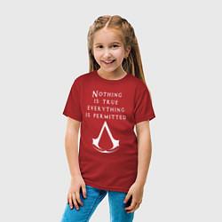 Футболка хлопковая детская ASSASSINS CREED цвета красный — фото 2