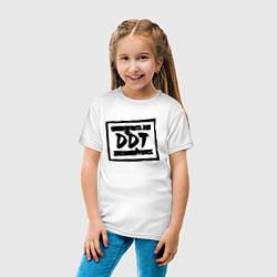 Футболка хлопковая детская ДДТ Лого цвета белый — фото 2