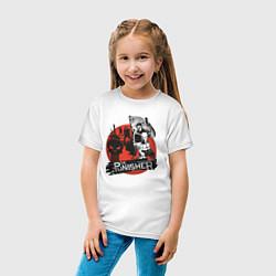 Футболка хлопковая детская The Punisher цвета белый — фото 2
