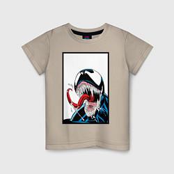 Футболка хлопковая детская Venom цвета миндальный — фото 1