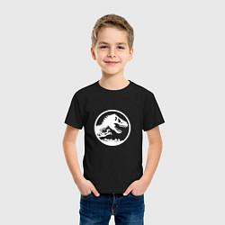 Футболка хлопковая детская Jurassic World цвета черный — фото 2