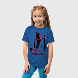 Футболка хлопковая детская Street Workout Выход Силой цвета синий — фото 2