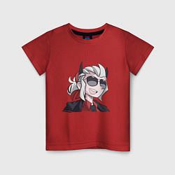 Футболка хлопковая детская Justice Helltaker Z цвета красный — фото 1