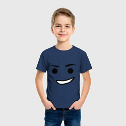 Футболка хлопковая детская Emmet цвета тёмно-синий — фото 2