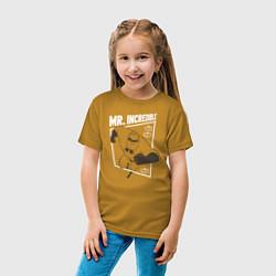 Футболка хлопковая детская Суперсемейка цвета горчичный — фото 2
