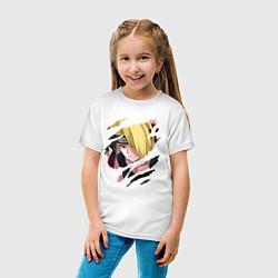 Футболка хлопковая детская Дейдара Deidara цвета белый — фото 2