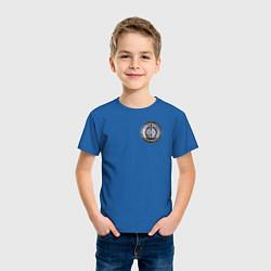 Футболка хлопковая детская S W O R D цвета синий — фото 2