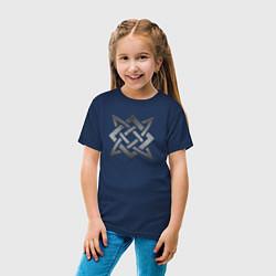 Футболка хлопковая детская ЗВЕЗДА РУСИ СВАРОГ цвета тёмно-синий — фото 2