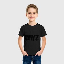 Футболка хлопковая детская DayZ цвета черный — фото 2