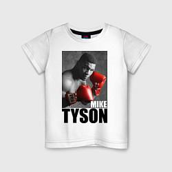 Футболка хлопковая детская Mike Tyson цвета белый — фото 1