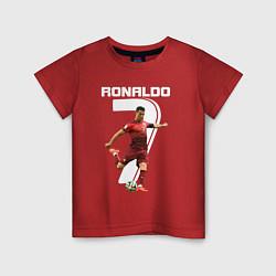 Футболка хлопковая детская Ronaldo 07 цвета красный — фото 1
