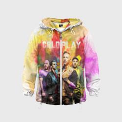 Ветровка с капюшоном детская Coldplay цвета 3D-белый — фото 1