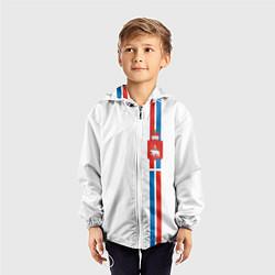 Ветровка с капюшоном детская Пермский край цвета 3D-белый — фото 2